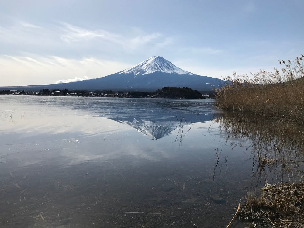 Mt. Fuji double vision