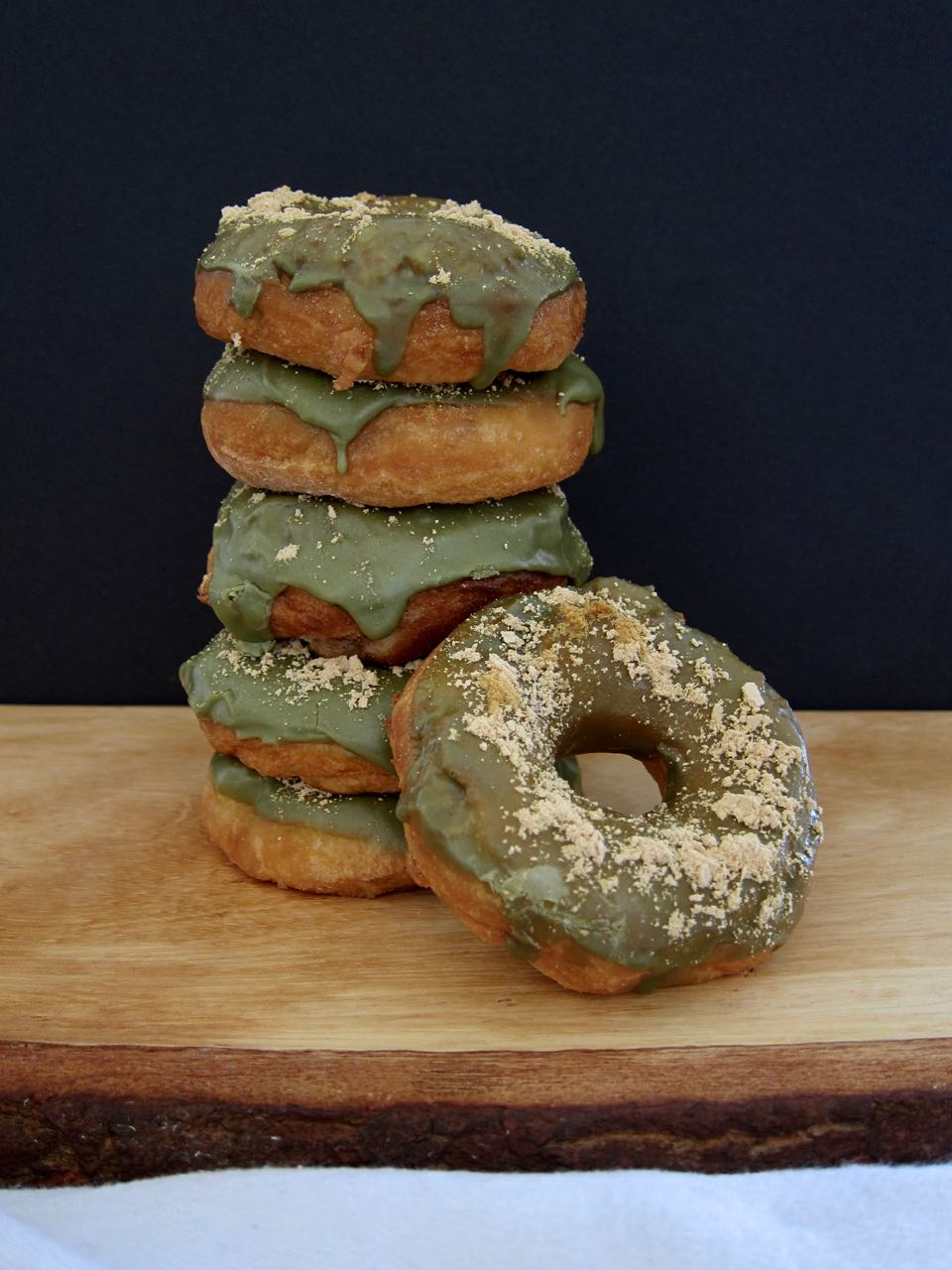 Matcha-Glazed Mochi Donuts — Tea and Fog