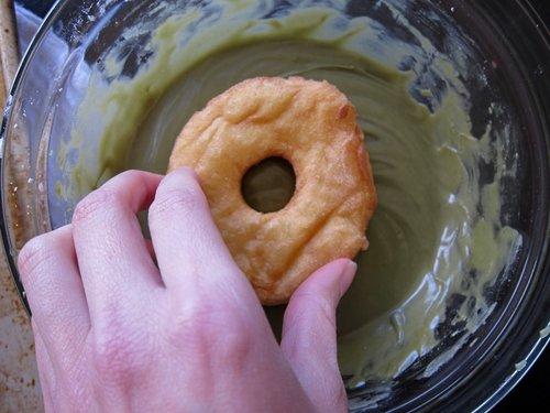 Matcha-Glazed Mochi Donuts — Tea and Fog