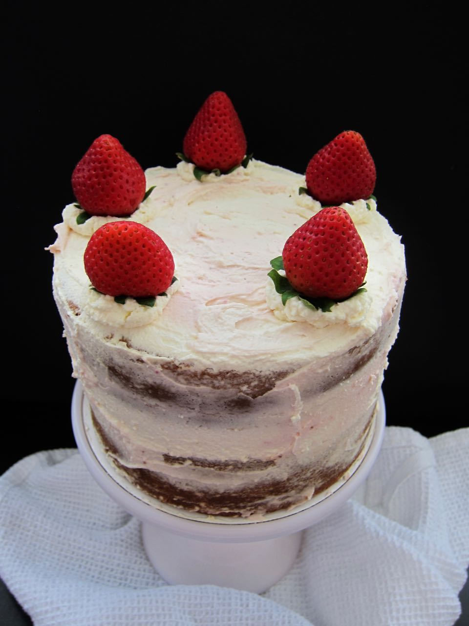 strawberries & cream cake