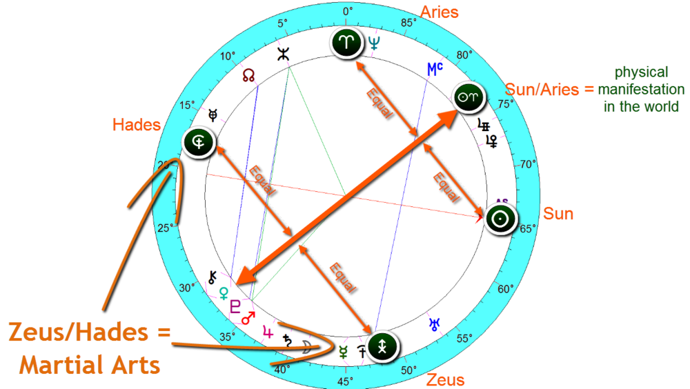 bruce Lee natal birth chart
