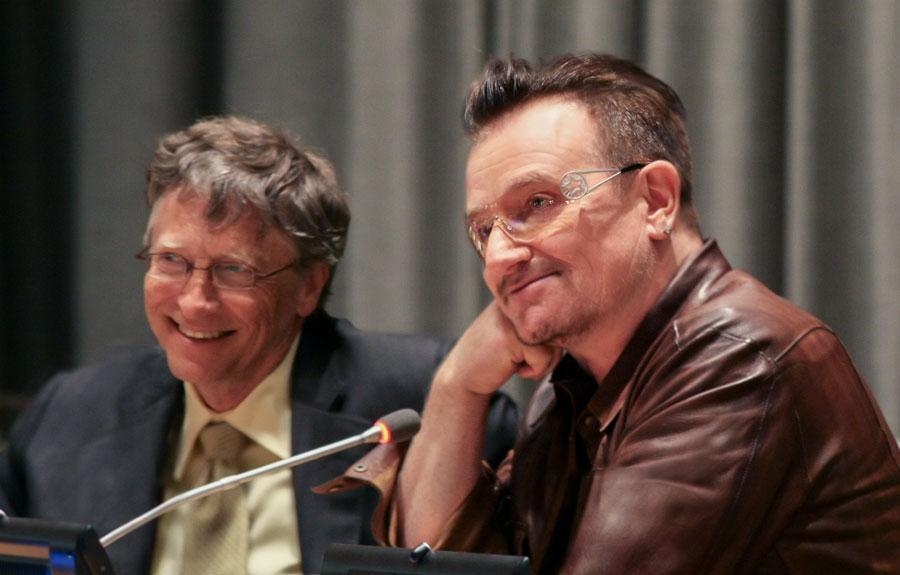 Bill gates & Bono