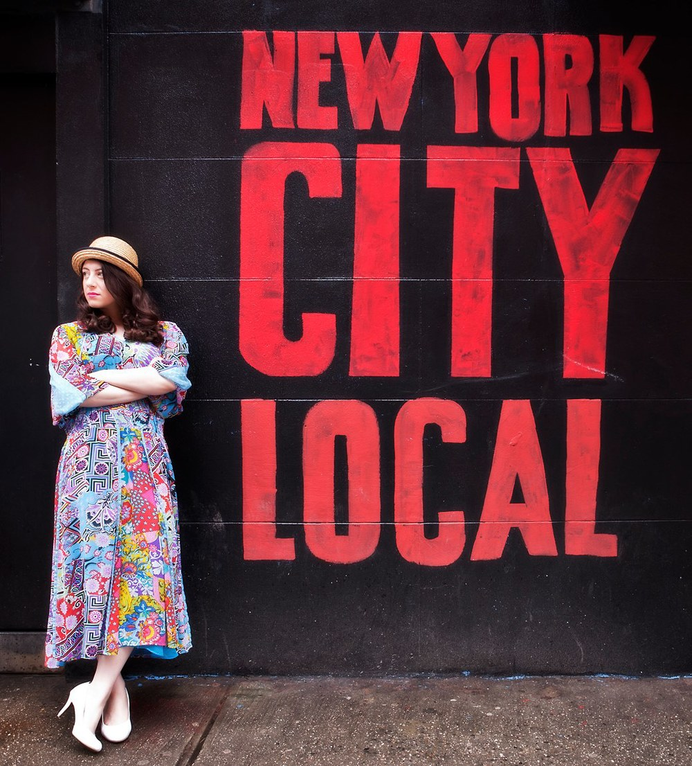 Street style featuring vintage Diane Freis 80's dress