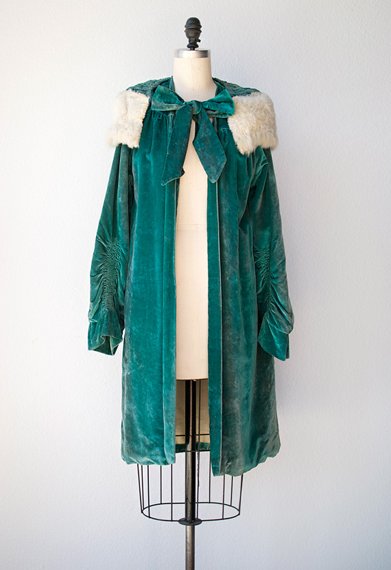 Name:Laurier Velvet Opera Coat  $328.00  from Adored Vintage