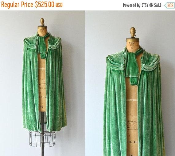Chevalier silk velvet cape | 1920s cape • vintage 1920s velvet cape  $367.50  USD   by DearGolden