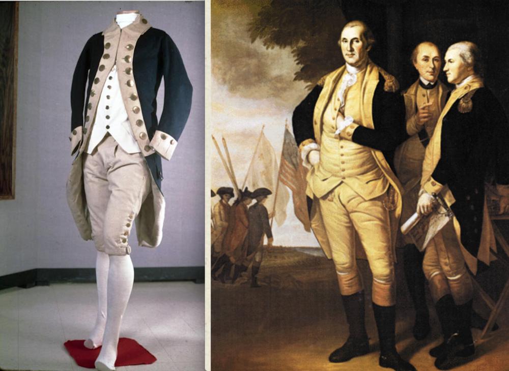Tench Tilghman uniform & Peale portrait.png