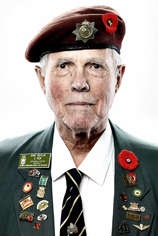 Portrait of Korean War veteran Eric Devlin.