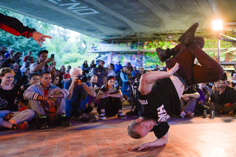Bboys at House of PainT urban arts festival 2017.