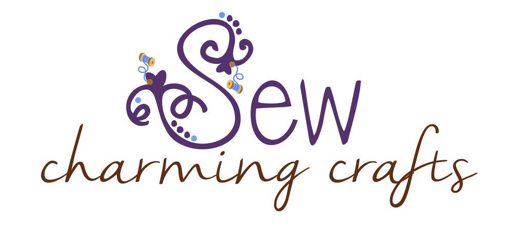 Sew Charming Crafts Saskatoon photographer Lisa Landrie logo design saskatoon