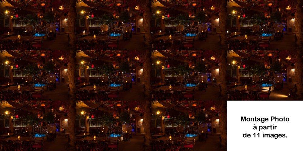 Les 11 images nécessaires au montage de l'image finale.