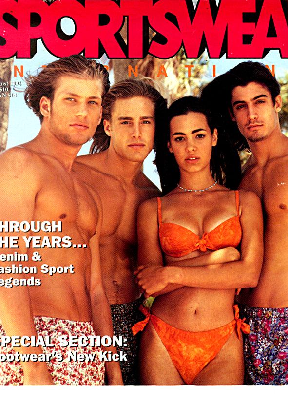 Karin Alisa Houben jewelry on the cover of Sportswear International