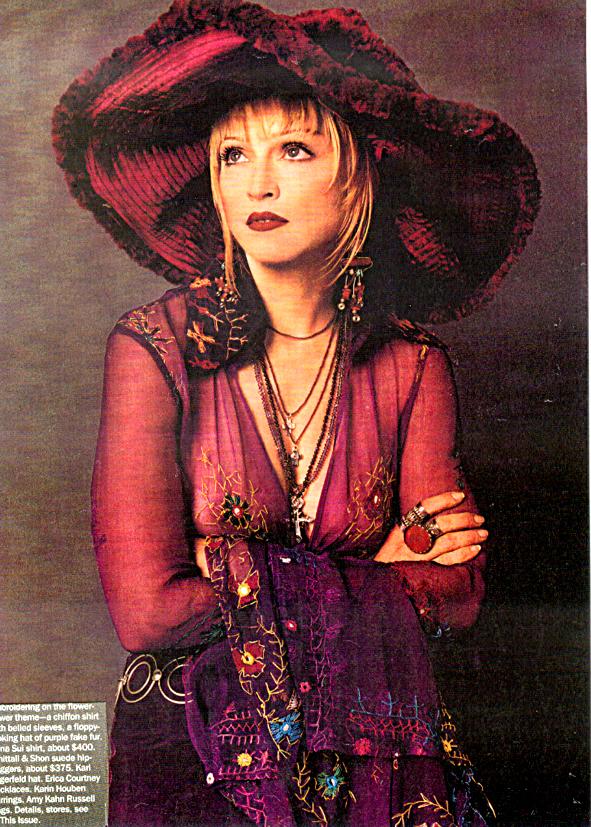Boho Madonna in Vogue Karin ALisa Houben earrings