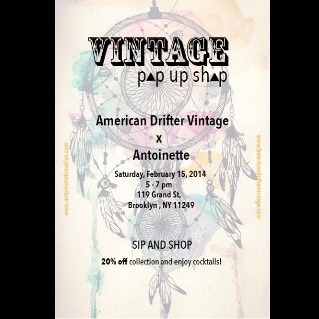#antoinettevintage #americandriftervintage #rocknroam #americandrifterXantoinette #popup #brooklyn #williamsburg #vintage #nyfw  (at Antoinette)