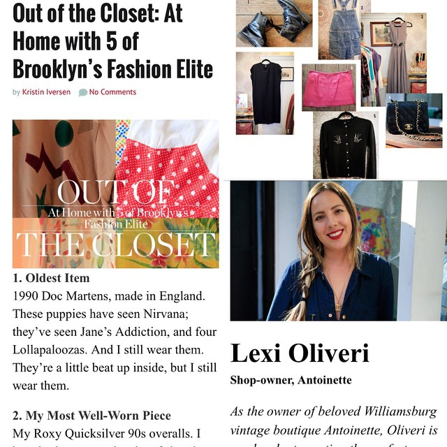 Super honored to be alongside Brooklyn Babes @samanthapleet & @hannahkristina for @brooklynmagazine 's featured story on Brooklyn's Fashion Elite ✨🙏✨  #antoinettevintage #vintage #brooklynmagazine #nyfw #mbfw #williamsburg #brooklyn #thriftandstyle #fashion #nyc #honored (at Antoinette)