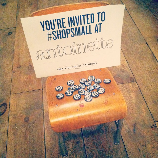Tomorrow is #SmallBusinessSaturday 🏦🗽  We're not only giving you 20% off all #vintage but with every purchase you get a FREE gift! 🙌#antoinettevintage #shopsmall #smallbizsat #amex #antoinettevintage #shoplocal #supportlocal #williamsburg #brooklyn  (at Antoinette)