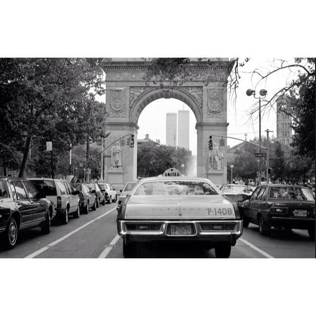 NYC c1988  My most cherished view of the towers #neverforget #Ioveny (at Washington Square Park)