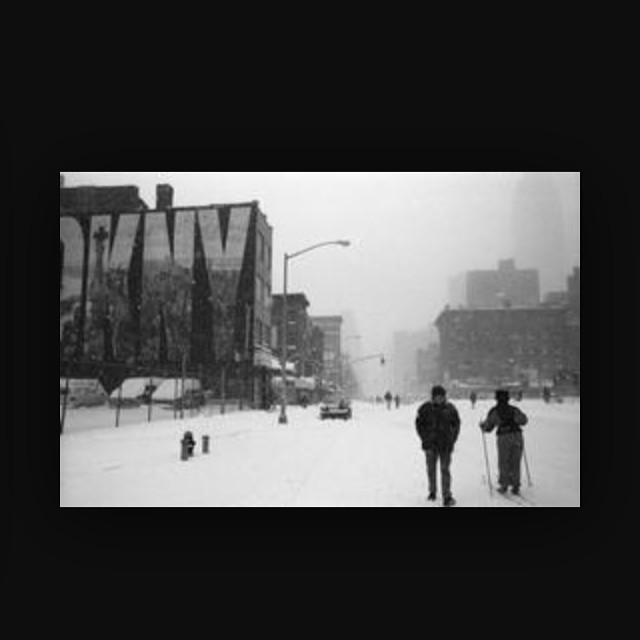 Blizzard inspiration // ❄️ Soho, NYC 1996  //  The shop will be closed tomorrow, Tuesday…Stay safe #AntoinetteBabes ⛄️ (at SoHo, Manhattan)