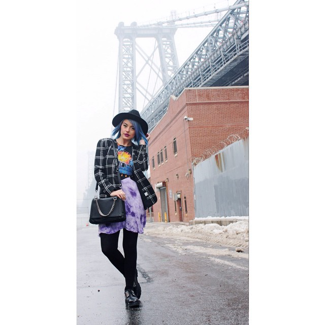 We're absolutely 💙blue💙 with envy over this look #NYC #Blogger babe @kayysteeze put together & love seeing our #Vintage blazer on such a beauty  //  📷 by @montgomeryfrankmercado  //  more of this shoot on  www.hausofsteez.com  (at Antoinette)