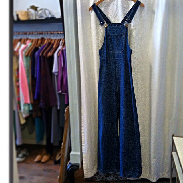 Probably the best #Vintage #1970s overalls we've ever seen! 💙💙💙 #1970s wide leg size XS $80  (at Antoinette)
