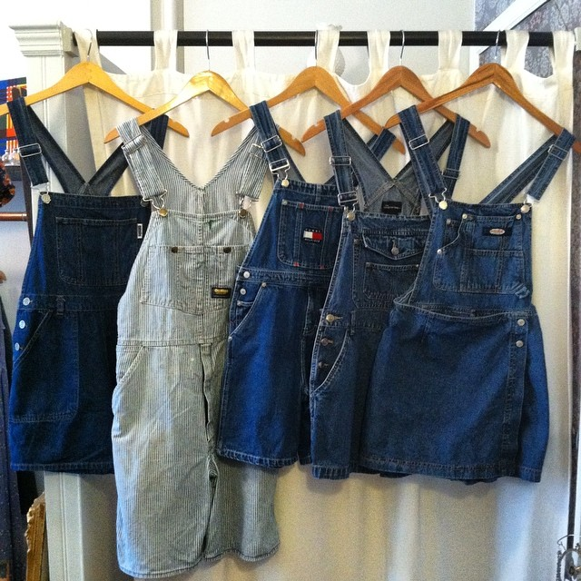 Ladies & Gents we present you with the best darn #vintage shortalls this side of the river's ever seen-these gems land in  shop just in time for this weekend's event! #antoinettevintage #popup #oshkosh #jordache #TommyHilfiger #squeezejeans #NoBoundaries #1980s #1990s #madeinusa #oneofakind #ootd #summerstyle #streetstyle #festivalstyle #williamsburg #brooklyn #supportlocal #thriftandstyle  (at Antoinette)