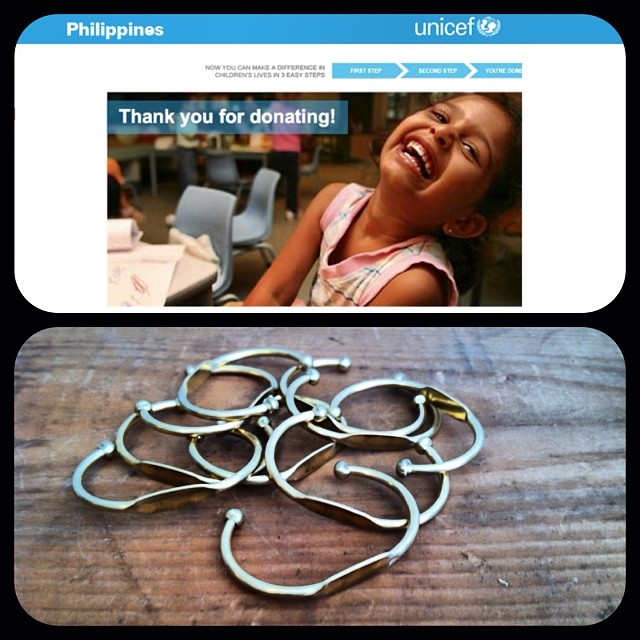 We wanted to thank all of our #antoinettebabes again for last month's #SupportthePhilippines @unicefphils event! Our donation was made & will benefit the children impacted by typhoon #haiyan …because you guys loved these ID bracelets so much we have more in stock! #antoinettevintage #vintage #reliefPH #brooklyn #williamsburg  (at Antoinette)