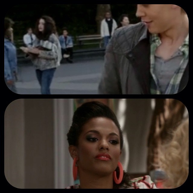 Some more #vintage pieces spotted on last week's episode of @thecarriediaries! Check out our 80's fringe denim jacket & neon orange earrings (that were once Mom's) on Larissa! #antoinettevintage #carriediaries #sexandthecity #brooklyn #williamsburg #nyc (at Antoinette)