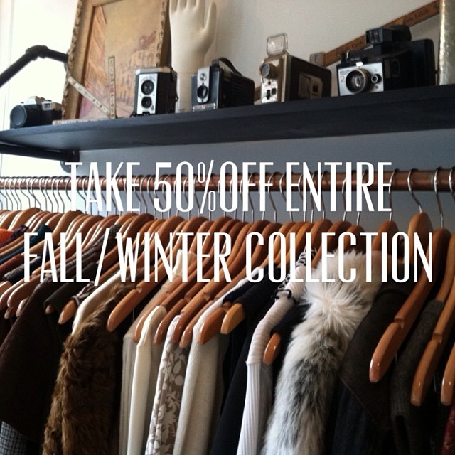 We should be dug out of snow by this weekend so stop by the shop for a cocktail & take 50% off the entire #vintage Fall/Winter collection! #antoinettevintage #brooklyn #williamsburg  (at Antoinette)