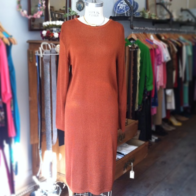 An absolute beauty from the 80's & once belonged to a local art gallery owner… #vintage #LizClaiborne #madeintheusa Lurex dress size Small (but could fit a Medium depending how you wear it) $68 #antoinettevintage (at Antoinette)