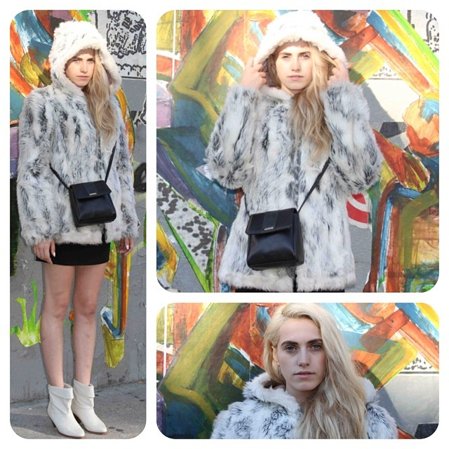 "Week #2 from our Fall/Winter Lookbook…This @styledotcom trend report is the ""Crazy Fur"" & here's our #vintage take! Mom's 1970's Faux fur jacket by #Sears size Small-Medium $150 *Stop in or call the shop for availability on any of these pieces shown 718-387-8664 #antoinettevintage #AntoinetteBabeSabina (at Antoinette)"