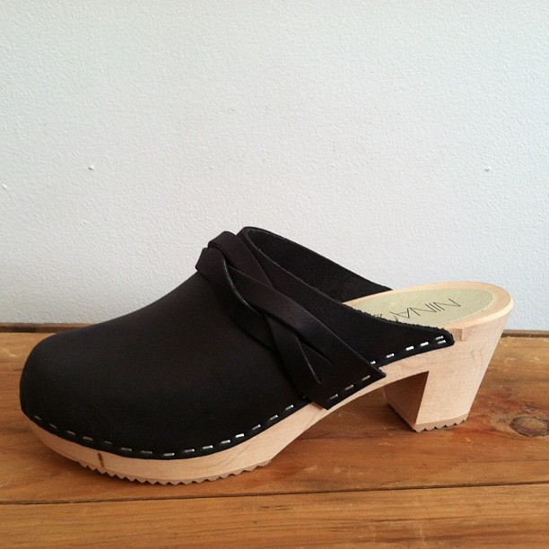 For the the #babes that like to hide their toes w/some height @ninaznyc #LisaClog #clogs $134 sizes 37-40 (at Antoinette)
