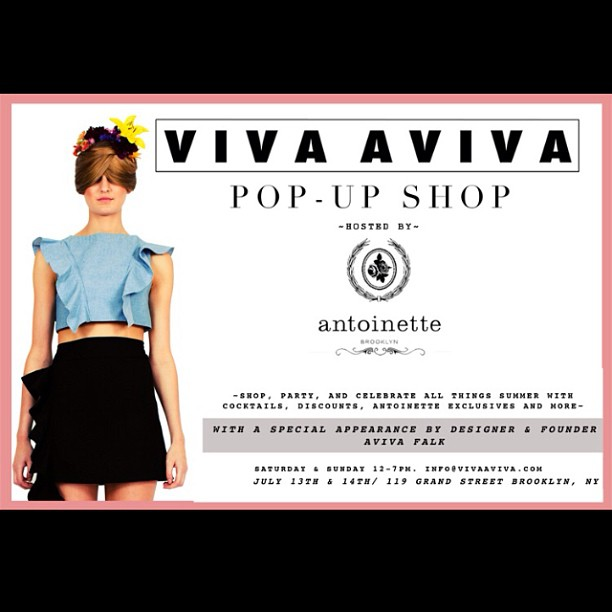 We're so excited to announce this weekend's pop-up will feature  Brooklyn-based designer @viva_aviva! #antoinettevintage  (at Antoinette)