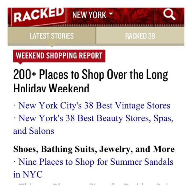 We ❤you @rackedny for sending shoppers our way during this holiday weekend! 👏👍🇺🇸😘 (at Antoinette)