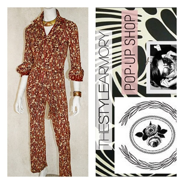 This #vintage 1970's #DVF jumpsuit is normally $450 but for tomorrow's pop-up #antoinettevintage customers can grab it for $400! …Come shop designer vintage while sipping on some wine tomorrow 12-7pm  (at Antoinette)