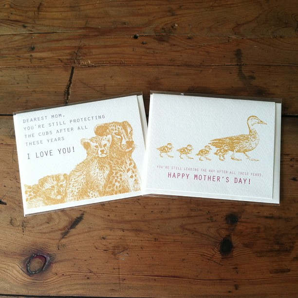 Don't forget tomorrow is Mother's Day kids…here are some adorable cards we have for sale at the shop made by #designparlour