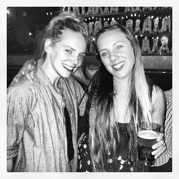 Well deserved drink for an amazing day w/ @irbyk -thank you @vintagecrawl for the ❤!  (at Brooklyn Bowl)