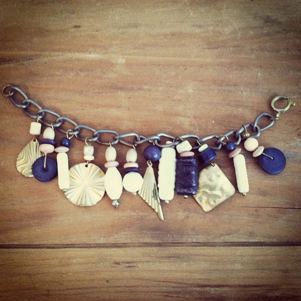 This is filled with happiness! #vintage 1970's charm bracelet $65 (at Antoinette)
