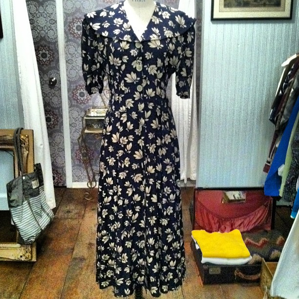 Perfect little spring maxi #vintage 1980's $48 tag reads size 6  (at Antoinette)