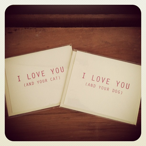 Absolutely real love! Greeting cards by #designparlour $4 (at Antoinette)