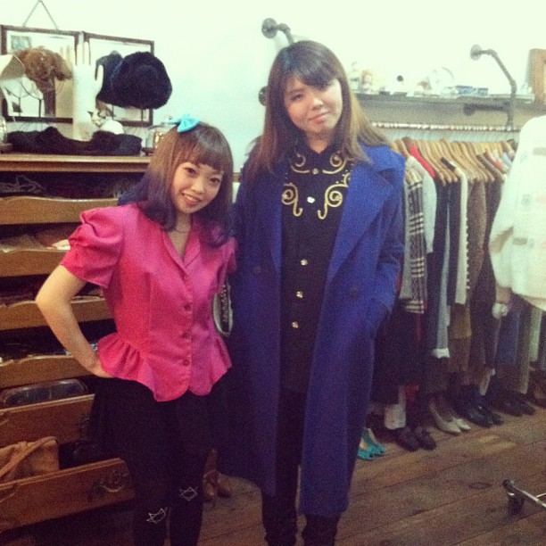 Check out our friends from Japan Momoka & Mayu modeling their new pieces from the shop! ❤👯 (at Antoinette)