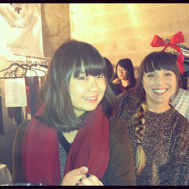 Thanks for stopping by the booth @cocohitomi ❤👯 (at Brooklyn Night Bazaar)