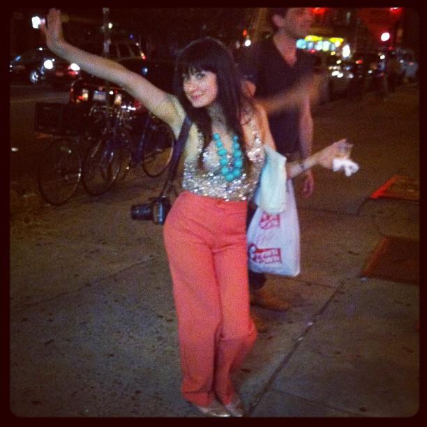 Spotted @kristenlucio rocking #antoinettebrooklyn pants! (Taken with  Instagram )