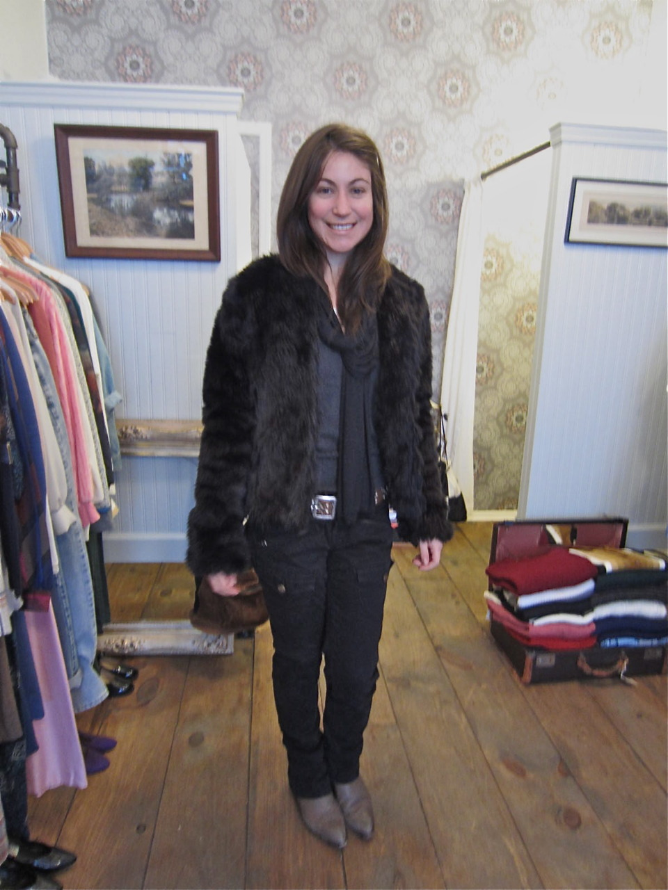 Mom's faux fur already has a new & fabulous owner We hope you enjoy your new coat Wallis!
