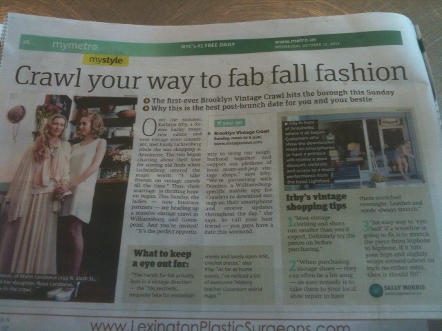 Check out antoinette in NYC's metro newspaper today!