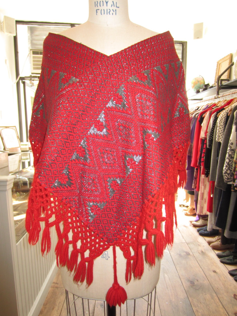 brooklynvintagecrawl: More from Antoinette:  This intricate 1970's handmade poncho is a mere $85