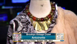 Check out Co-Creator of the Vintage Crawl, Kathryn Irby on News Pix 11!   The segment has three vintage looks, one of which are from antoinette!    http://www.wpix.com/videobeta/003672a6-0cea-4436-ad4f-d05666ce7b68/News/Brooklyn-Vintage-Crawl