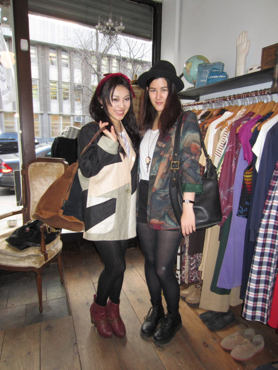 Natalie & Aimee just picked up these fabulous antoinette blazers as well as the vintage Coach Duffle bag