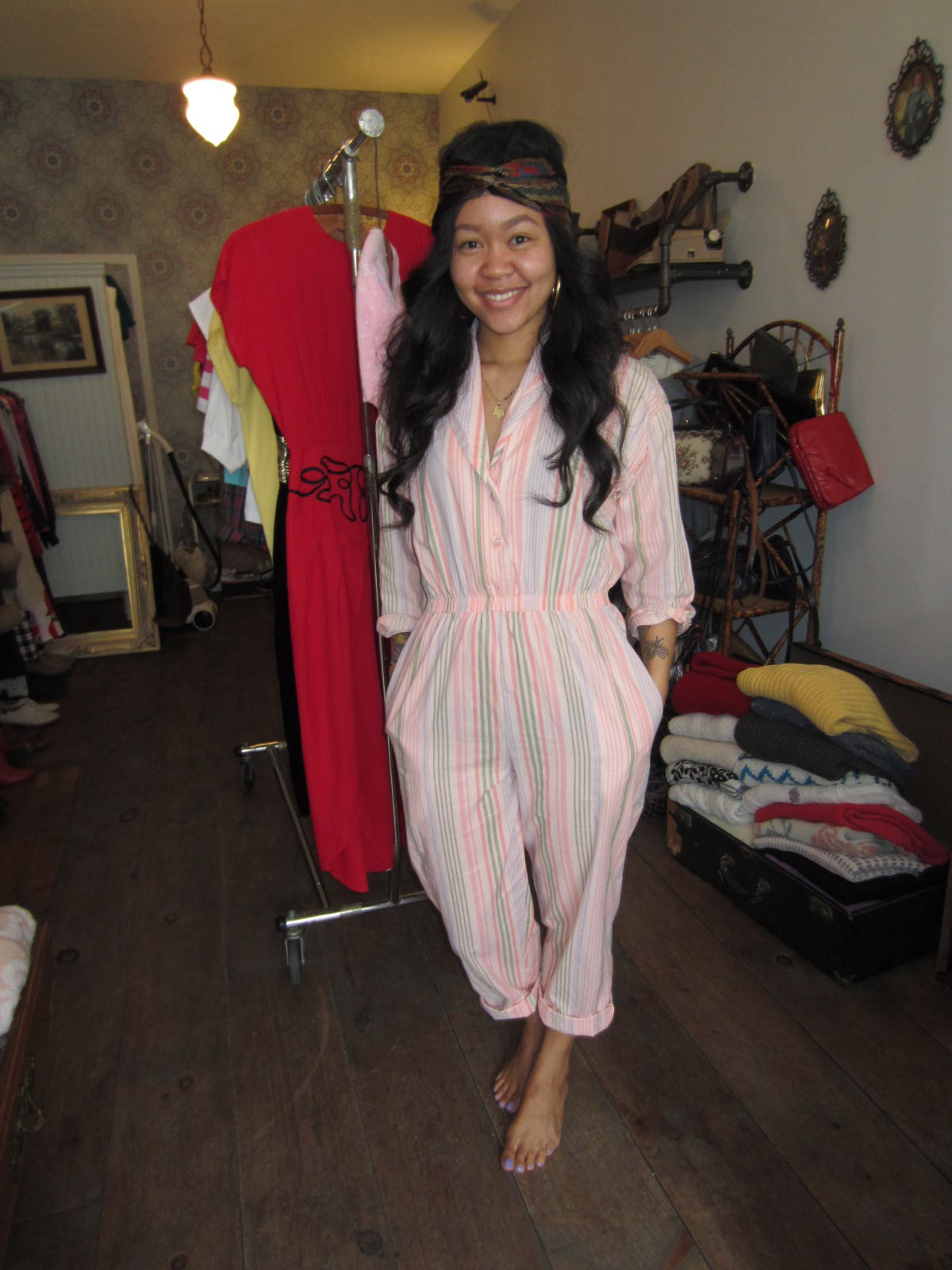 Jump into a Jumpsuit for Spring! Spring pieces on the floor by this weekend…Our model Sophie is wearing what's to come!