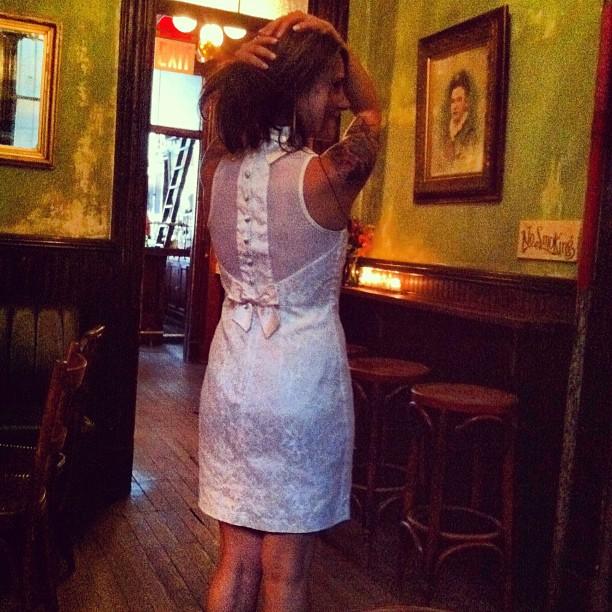 @autumnspadaro looking amazing in #antoinettebrooklyn #vintage #bachelorette  (Taken with  Instagram  at Hotel Delmano)