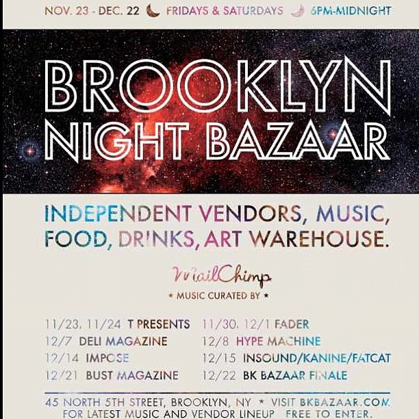 Tonight is the kick off for the BK Bazaar…don't forget to stop by the Antoinette booth & say hello! (at Brooklyn Night Bazaar)