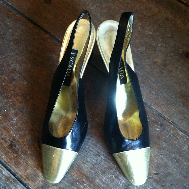 Vintage Escada size 8.5 $68…need we say more #vintage #vintageshoes #escada (at Antoinette)